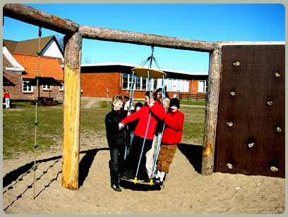Pupils having fun on the playground